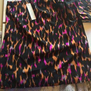 Trina Turk Tops - Trina Turk silk-blend tiger print one-shoulder top